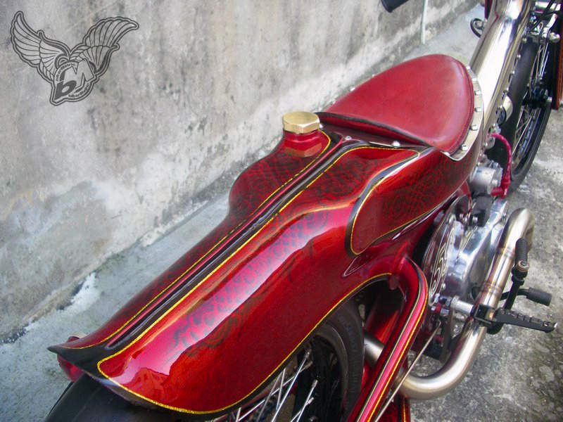 radical scooter seat and fender | afs custom, taiwan