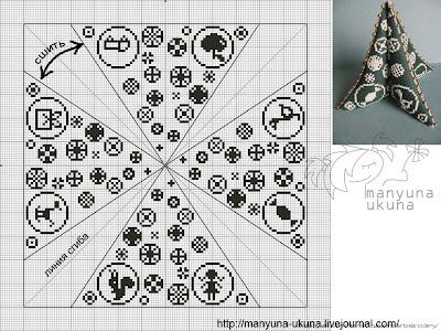 схема для вышивки крестиком Ёлочка бискорнню