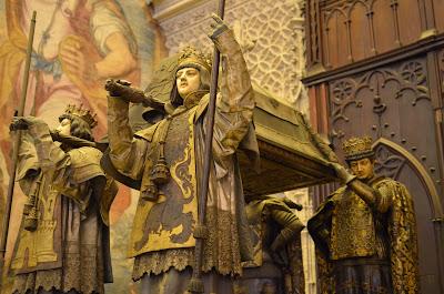 Cathédrale de Séville - mausolée de Christophe Colomb