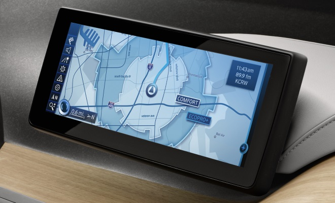 BMW i3 Concept Coupe satnav screen