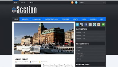 Section Blogger Template