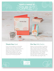 Reason to Smile Sample Projects Supply List by Stampin' Up!