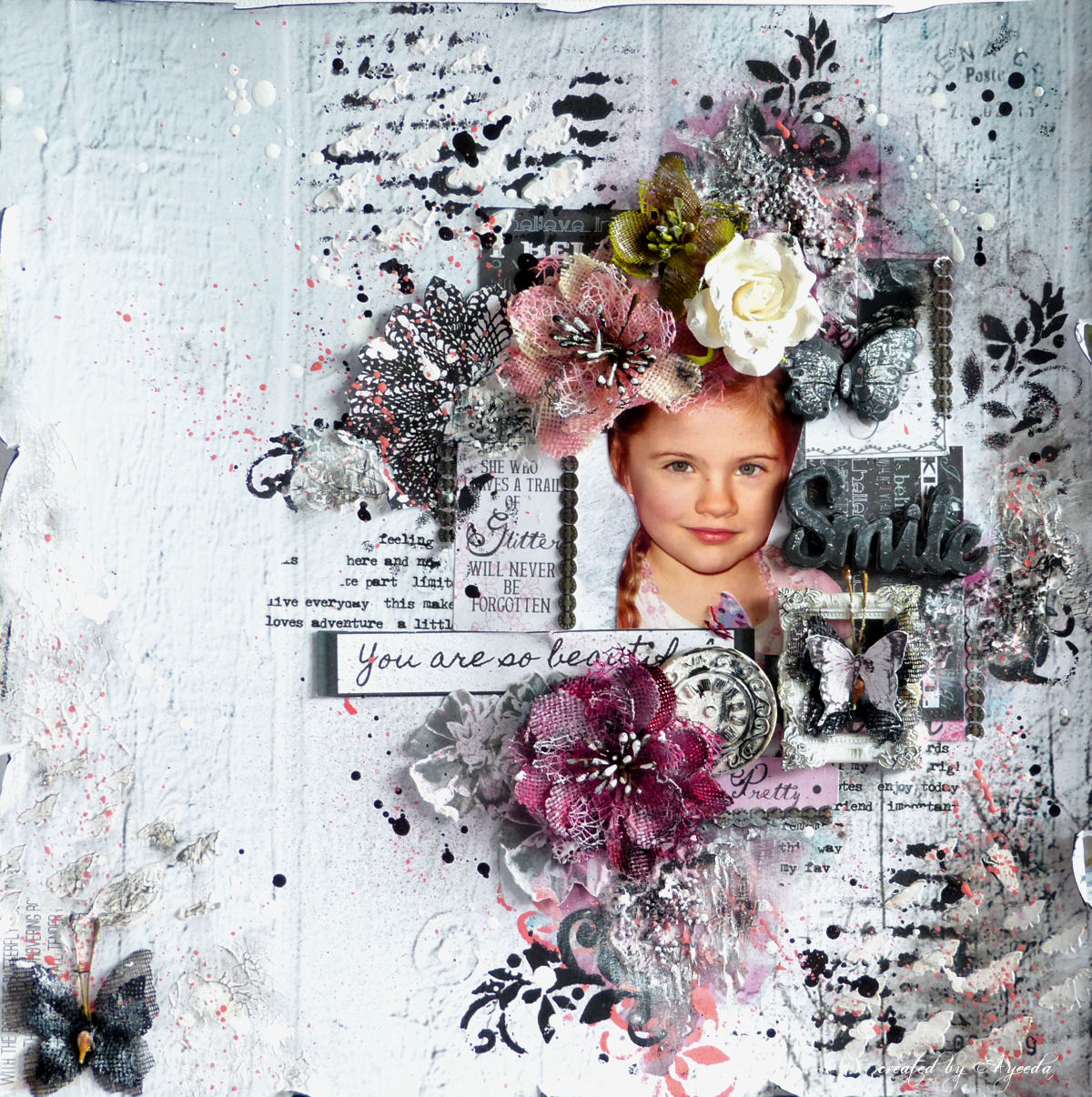 http://13pasji.blogspot.com/2014/07/smile-mixed-media-layout-and-video.html