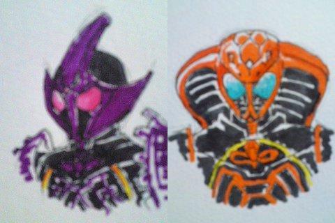 keluar juga gambar asli dari Kamen Rider OOO BuraKaWani ComboKamen Rider Ooo Burakawani Logo