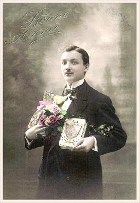 caballero victoriano para scrapbooking