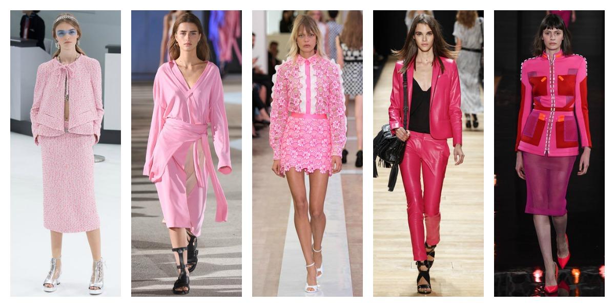 paris fashion week ss16 pink trend report pfw