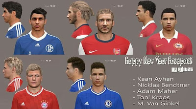 PES 2014 New Year Facepack by Adit25