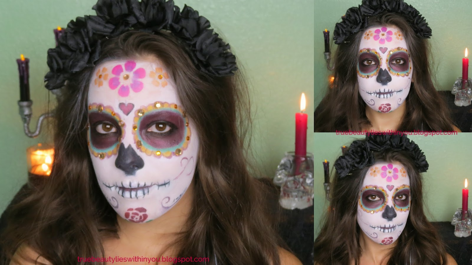 True beauty lies within you dia de los muertos sugar skull ben nye clown white face makeup elf high definition powder in clear ben nye color wheel monster wheel bh cosmetics 88 color palette neutral baditri Images