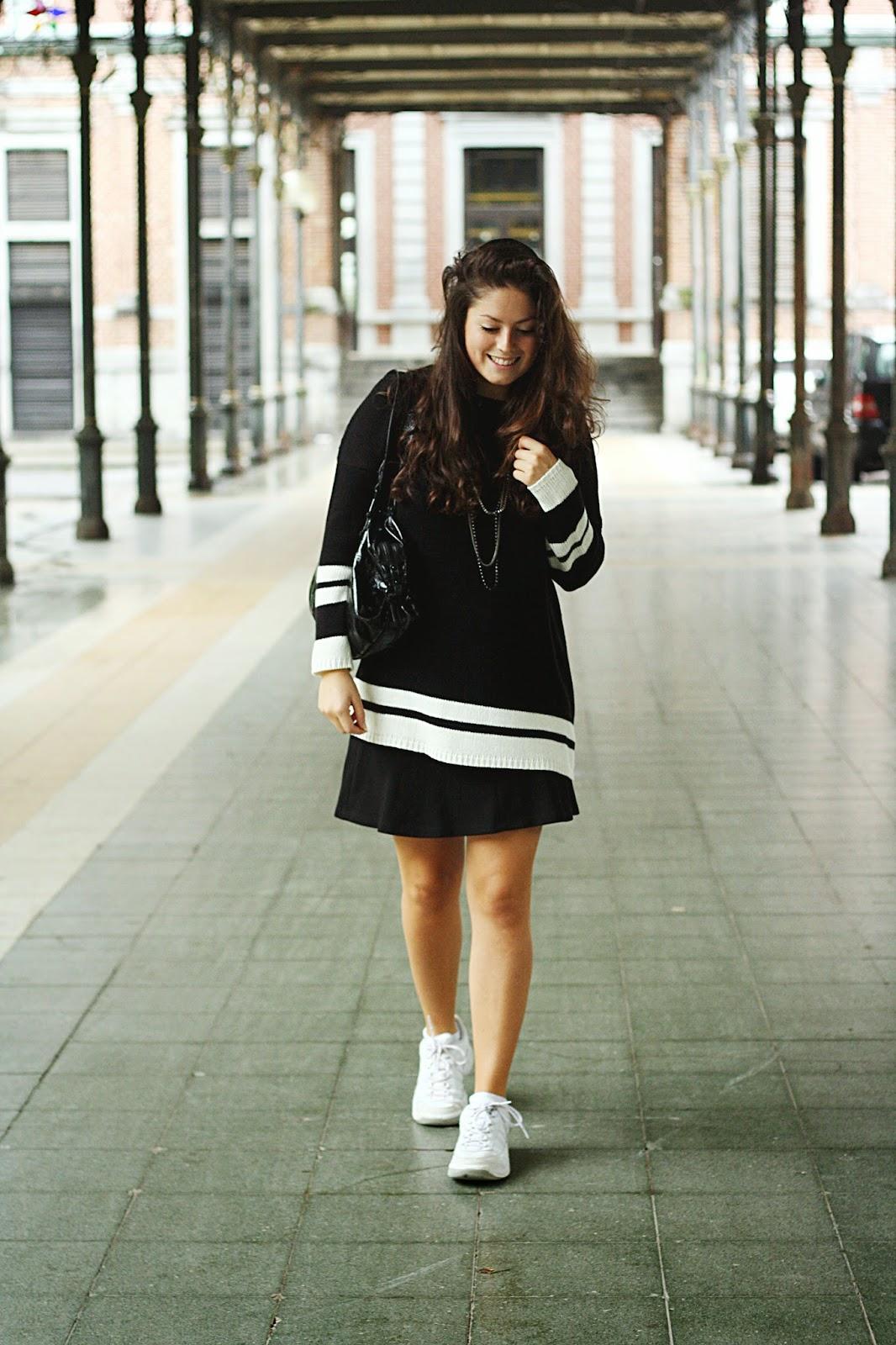 look sport basket outfit noir et blanc