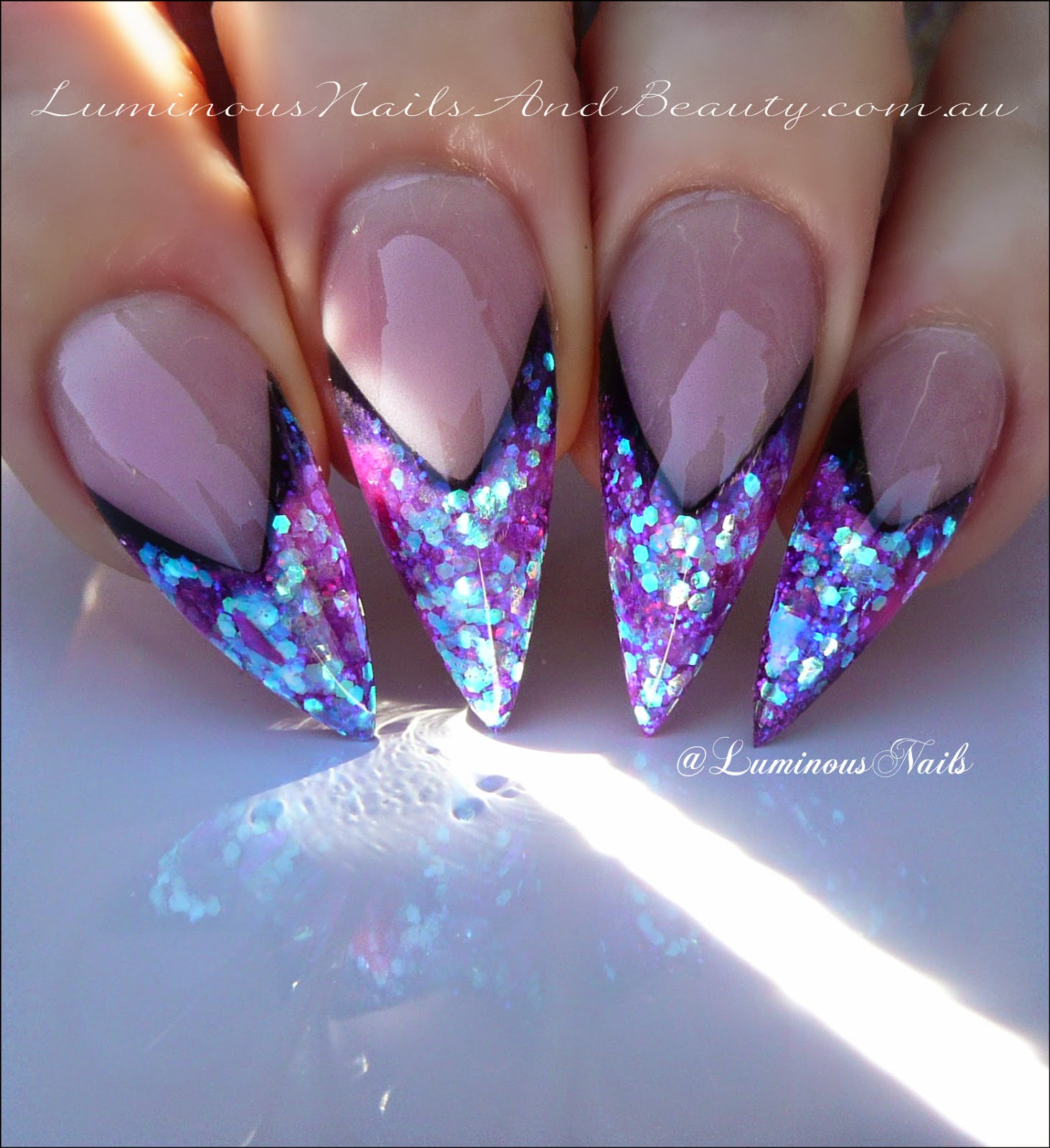 Fine Neon Acrylic Nail Designs Illustration - Nail Art Ideas ...
