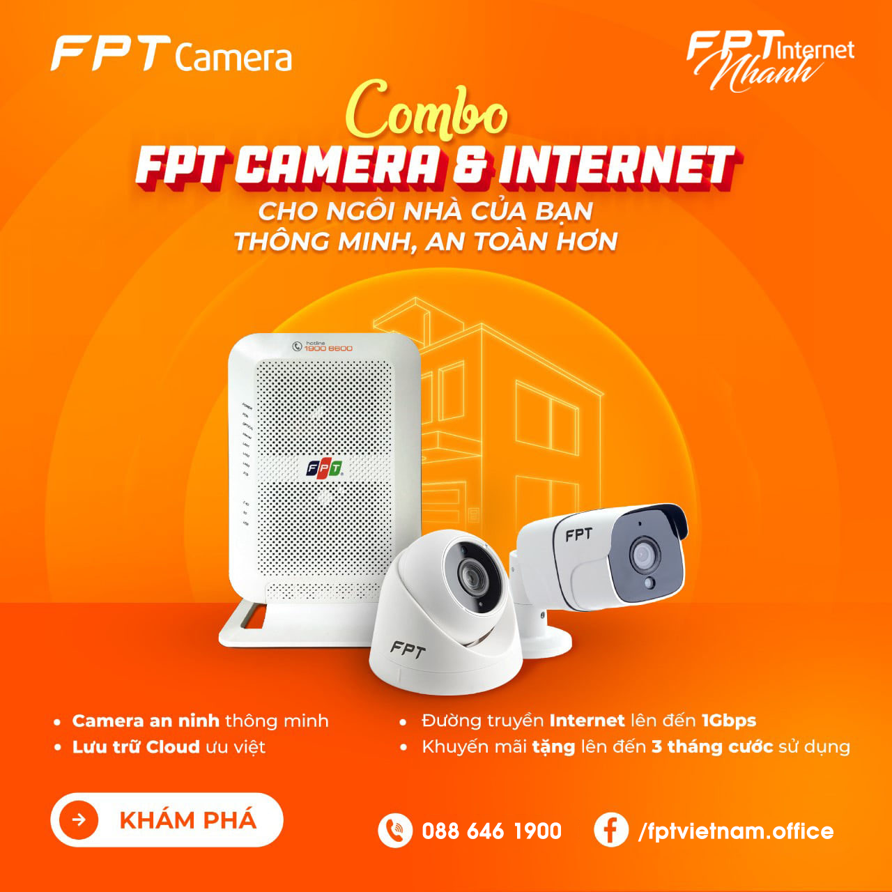 Combo FPT Camera + Internet FPT