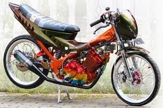 Gambar Modifikasi Motor Suzuki satria