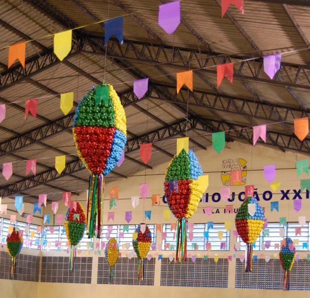decoração festa junina - reciclagem