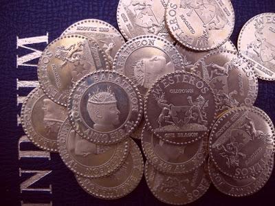 moneda cara de Joffrey - Juego de Tronos en los siete reinos
