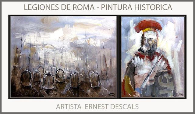 ROMA-LEGIONES-PINTURA-HISTORICA-PINTURAS-HISTORIA-LEGIONARIOS-ROMANOS-ARTE-ARTISTA-PINTOR-ERNEST DESCALS