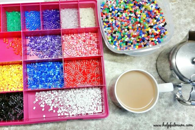 Sorting hama beads