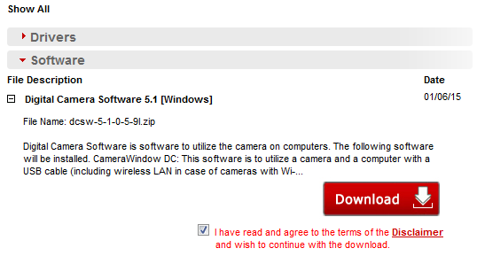 http://www.usa.canon.com/cusa/consumer/products/cameras/digital_cameras/powershot_sx610_hs#DriversAndSoftware