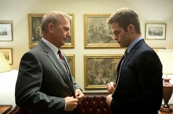 """Kevin Costner y Chris Pine en  """"Jack Ryan: Operación en la sombra"""""""