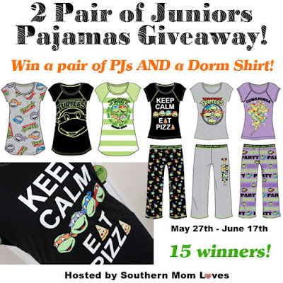 Enter the Juniors TMNT PJs Giveaway. Ends 6/17
