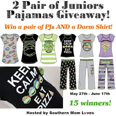 Enter the Juniors TMNT PJs Giveaway. Ends 6/17