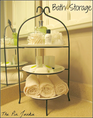 bathroom organizer plate stand
