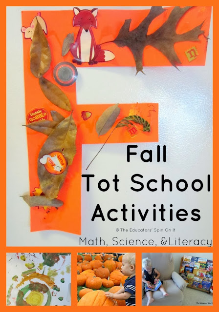 Fall Tot School Activities including Math, Science & Literacy from The Educators' Spin On It