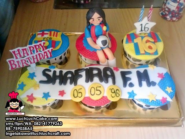 Cupcake Ulang Tahun Tema Barcelona Daerah Surabaya - Sidoarjo