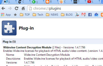 chrome blocca plugin