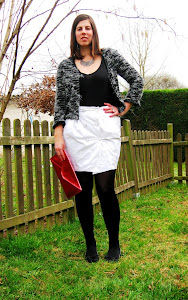 blanco y negro Mix: Falda y chaqueta