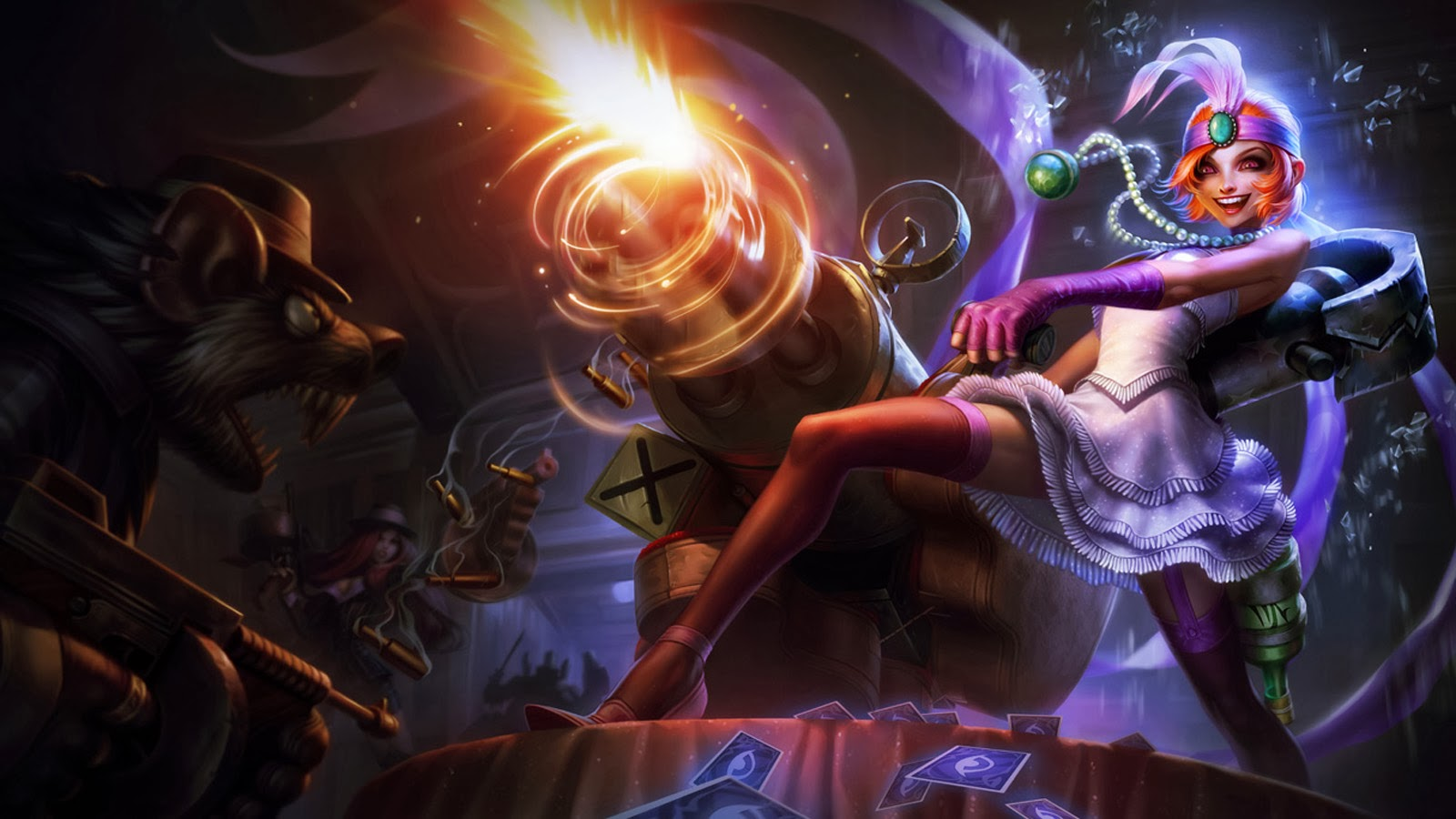 Jinx Wallpaper League Of Legends jinx league of legends lol girl mafia skin splash hd wallpaper