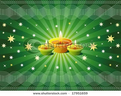 Sparkling Diwali lamps for Diwali festival