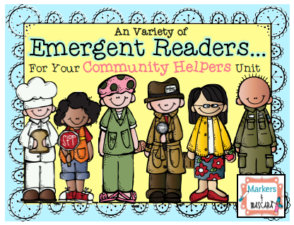 http://www.teacherspayteachers.com/Product/Community-Helpers-Emergent-Readers-Pack-1414928