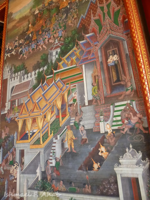 Painting in Wat Arun ubosot