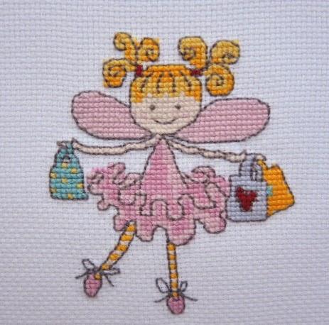 схема вышивка крестиком дети девочка для подарка своими руками