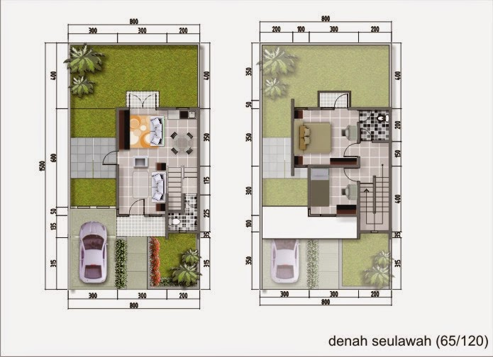 Desain Rumah Minimalis 2 Lantai Luas Tanah 120M2
