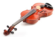 The violin is a string instrument, usually with four strings tuned in .