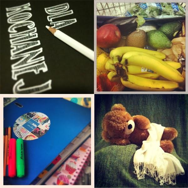 DIY kreda, zakupy, planner 2014, miś na sesji zdjęciowej