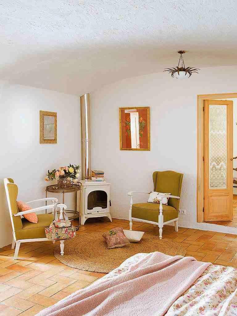 Eklektyczna sypialnia, lkoza w sypialni, stylowe meble w sypialni