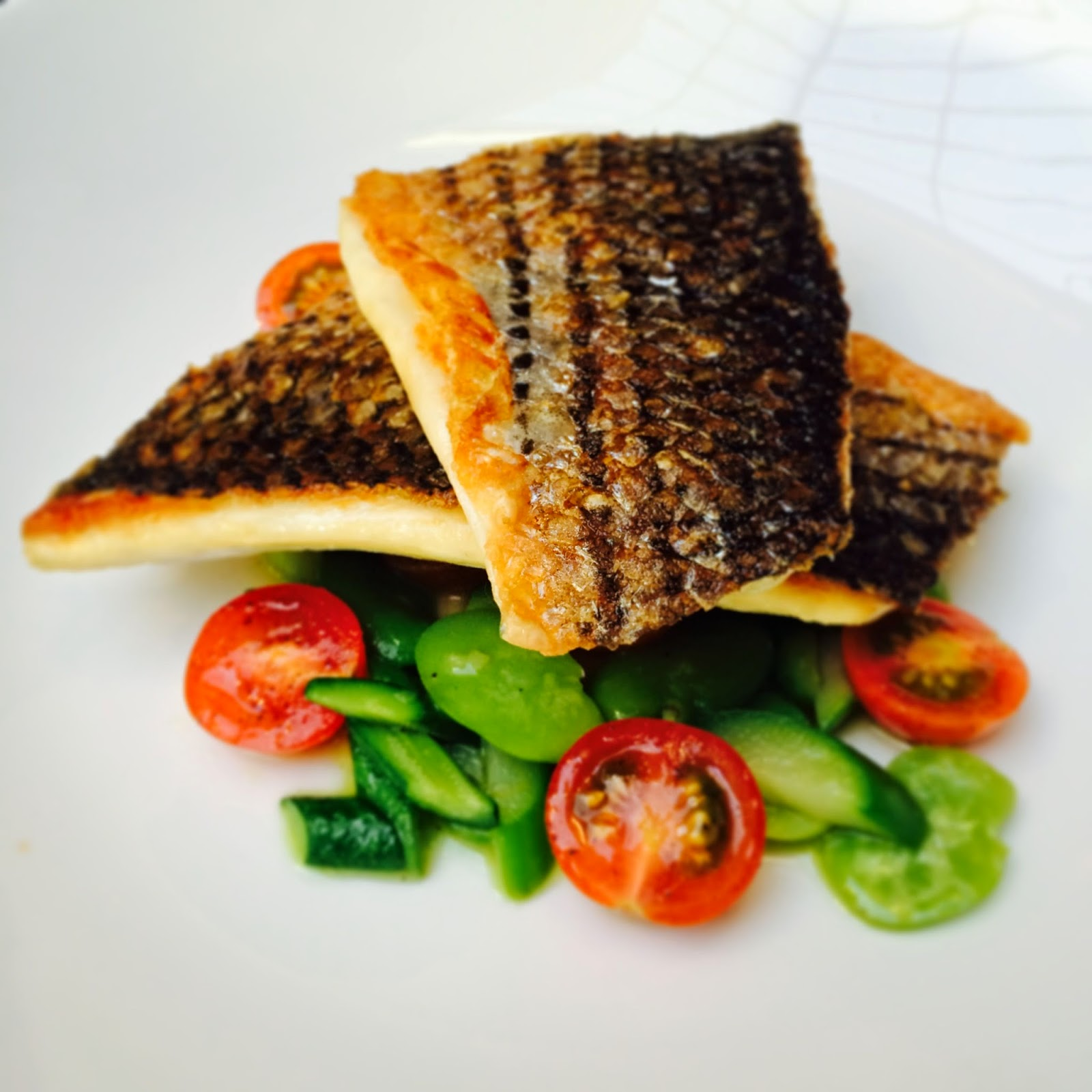 Gluten-free, dairy-free Branzino at Republique Restaurant in LA