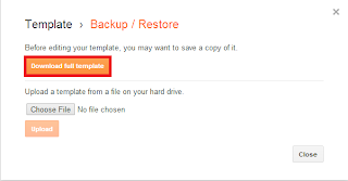 How to Backup and Restore Blogger Template