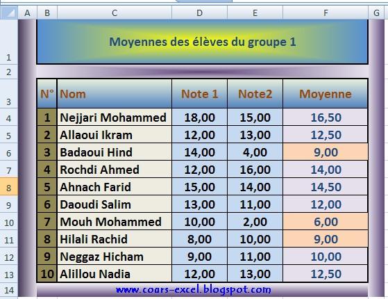 Mise en forme Excel cours et exercice | Cours, Exercices et QCM Sur Microsoft Excel