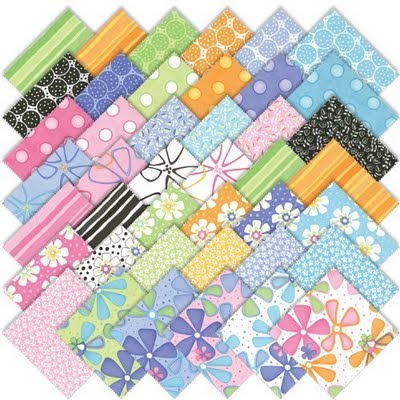 dilly dally charm pack, moda, moda charm pack, quilting, precut, quilt fabric, flower quilt fabric