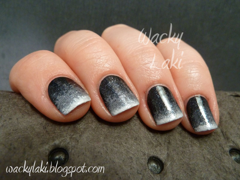 Nail Polishes Black Dark Gray White And Glittery Silver I Used Wet N Wild Cream Zoya Kelly Pees Color Fever Vintage