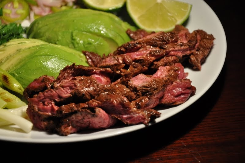 Slice of Rice: Ancho and Cocoa-Rubbed Skirt Steak Tacos