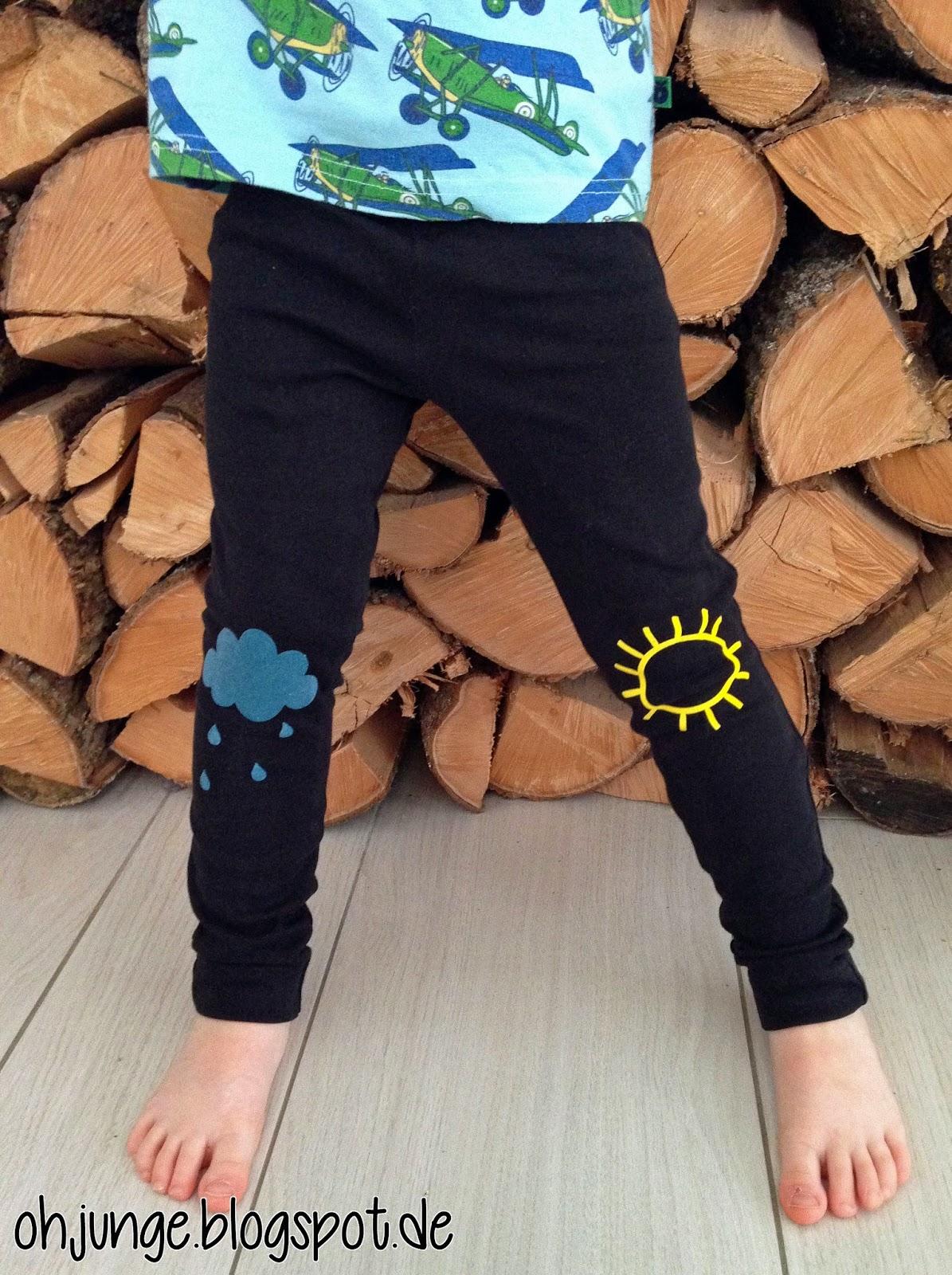 oh junge nach regen folgt sonnenschein leggings f r jungs. Black Bedroom Furniture Sets. Home Design Ideas