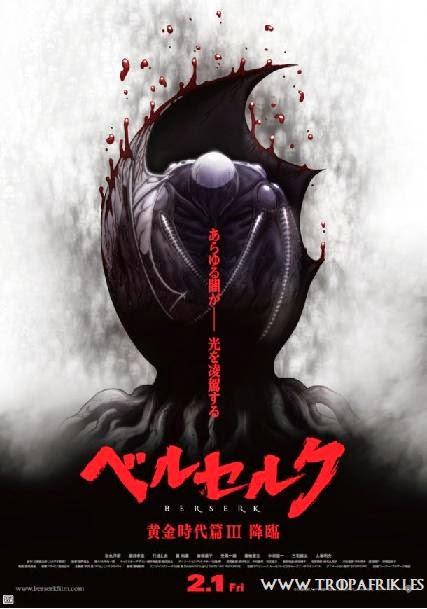 """berserk 3 Tercera película de la saga de """"Berserk. La Edad de Oro dvd"""