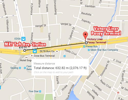 Victory Liner Inc. Pasay Terminal Map