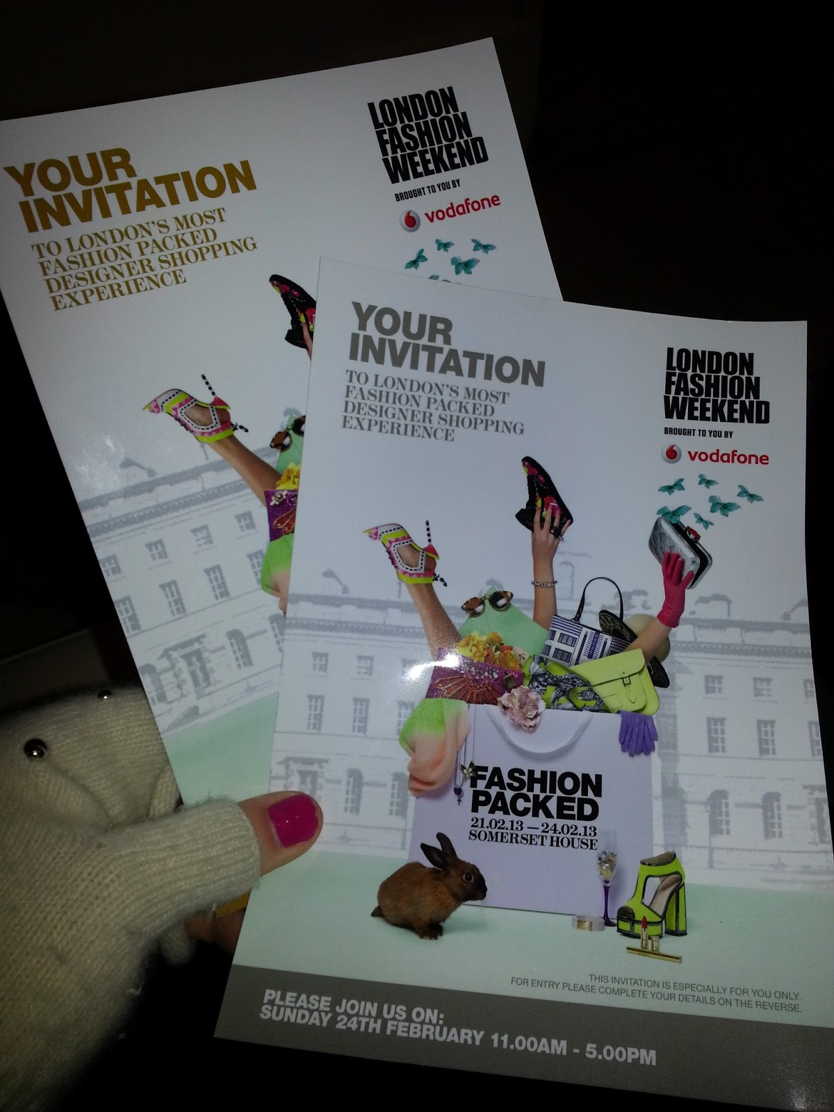 Vodafone london fashion weekend at somerset house