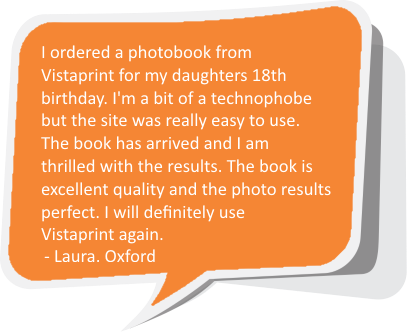 Vistaprint UK testimonial - Laura from Oxford