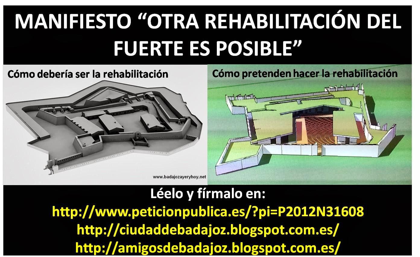 """Manifiesto """"Otra rehabilitación del Fuerte es posible"""""""